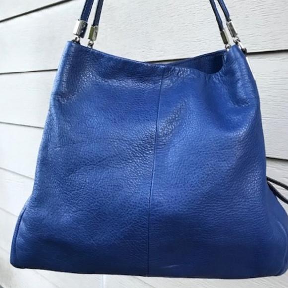 coach madison small phoebe shoulder bag 26224 silver lacquer blue ... 443a7e0a80